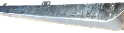 90/110 GALVANISED FRONT BUMPER (ENDCAP HOLES) H- DUTY 3MM