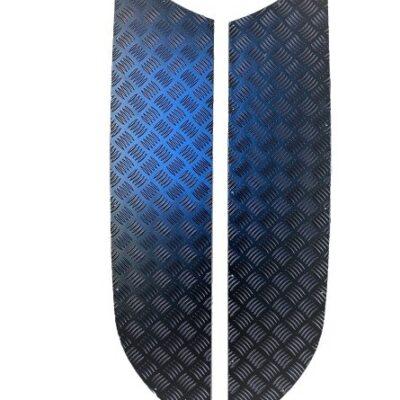 D3 & D4 CHEQUER PLATE BONNET SIDES (3MM BLACK)